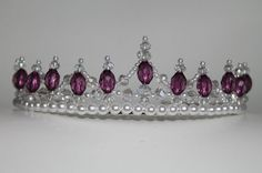 Pretty Purple Pearl and Crystal Tiara by CreativeCalling1 on Etsy
