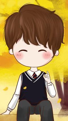 堆糖-美好生活研究所 Cute Couple Cartoon, Chibi Couple, Cute Couple Art, Anime Love Couple, Cute Anime Couples, Kawaii Chibi, Anime Chibi, Anime Art, Cute Couple Wallpaper