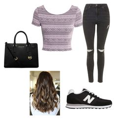 """""""24th may-2015"""" by h-peeringa on Polyvore featuring H&M, Topshop, New Balance and MICHAEL Michael Kors"""