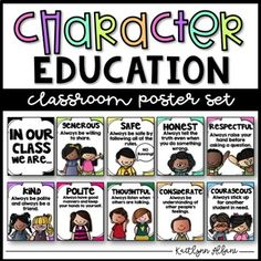 Use these classroom display posters to remind students of how to be a good student -- Plus the students will love showing off their wonderful character traits to the other classes! :) Inside you will get 11 posters: *In our class, we are... *Respectful *Honest *Kind *Fair *Safe *Courageous *Helpful *Generous *Considerate *Thoughtful *Polite