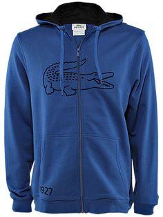 Lacoste Men's Fall Zip Hooded Fleece. $110.00