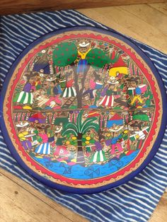 Mexican Folk Art Pottery Plate Wall Hanging Ceramic Hand Painted Plate Rustic Mexican Plate Hand Painted by ABQforYou for 63.00 USD  sc 1 st  Pinterest & Vintage 1960u0027s Southwest Plate Decorative Ceramic Plate South of the ...