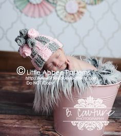Download Now  CROCHET PATTERN The Curly Top Beanie by littleabbee, $4.50
