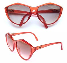 e52e11f380 RARE NEW Vintage Christian Dior 2234 Cat Eye Sunglasses Translucent Red  Optyl Frames Made In Germany