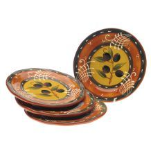 Olive pattern of attractive and functional ceramic dinnerware from Certified International creates a stylish table setting. This stylish salad plate set features a hand painted design.