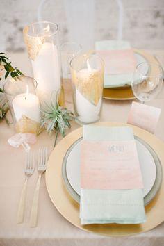 tropical wedding inspiration, photo by Blush Wedding Photography http://ruffledblog.com/modern-tropical-wedding-inspiration #weddingideas #placesetting