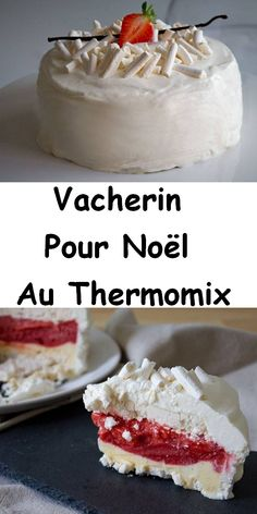Vacherin For Christmas at Thermomix - - Easy Cheesecake Recipes, Cheesecake Bites, Pumpkin Cheesecake, Dessert Thermomix, Strawberry Sweets, Chocolate Covered Fruit, Mini Cheesecakes, Mini Foods, Homemade Ice Cream