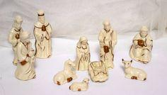 60s Christmas Nativity Scene 10 Piece Nativity by Beadgarden55