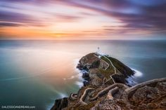 """Stairs to the Lighthouse - This is probably my favourite lighthouse in UK, I've been there again few months ago with my pal Francesco Gola and i took this photo, showing the lighthouse from a different angle. You can join us: <strong><a href=""""http://alessioandreani.com/photo-tours/lighthouses-of-brittany-photo-tour/ """">Photo tour in Brittany</a></strong> You can follow me on <a href=""""https://www.facebook.com/AlessioAndreaniPhotography"""">Facebook</a>"""