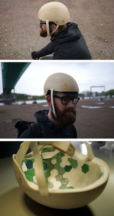 Rasmus Malbert from design studio Materialist, has teamed up with Jesper Jonsson and Cellutech, to design and prototype a bike helmet made from wood.