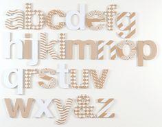 Flatout Frankie Make A Message Cardboard Wall Alphabet - hardtofind.