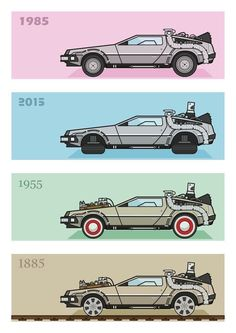 Old School Science Fiction Science Fiction, Film Mythique, Bttf, Marty Mcfly, Ready Player One, Film Posters, Oeuvre D'art, Good Movies, Cool Cars