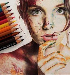 Fascinating Colored Pencils Works by Franwing Martínez
