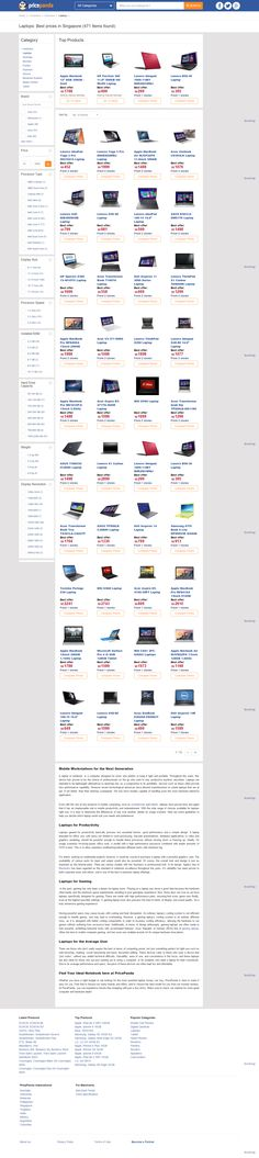 Wonderful Sample Websites Examples for Companies Selling Laptops, Tablets and Smartphone