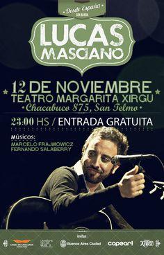 Cartel para Lucas Masciano / Argentina