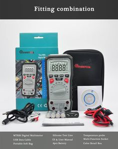 Mustool™ MT826 True RMS Professional Digital Multimeter AC/DC Current AC/DC Voltage Resistance Capacitance Frequency Continuity ℃/℉ Transistor Diode Tester with Silicone Test Line & USB Cable Sale - Banggood.com
