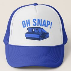 Oh Snap Photo Geek Trucker Hat - photography gifts diy custom unique special