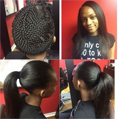 Great Sew In And That Braid Pattern Is No Joke Black Hair Information