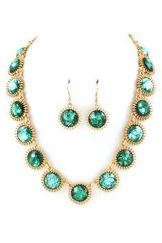 Enchanting Necklace Set in Paris Green #tiffany tiffany sterling silver charm bracelets for women