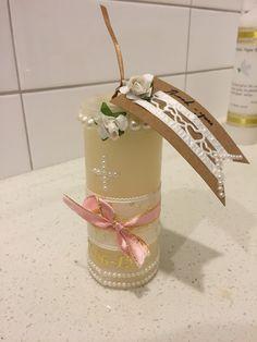 DIY Baptism candle favor ideas