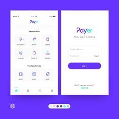Payment App – Dashboard and Log In Views Desenvolvido pela designer … Ui Design Mobile, App Icon Design, App Design Inspiration, Web Ui Design, Dashboard Mobile, Mobile App, Le Web, Apps, Designer