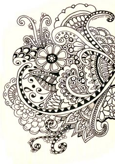 zentangle            HENNA DESIGNS/H. BASICS,PRACTISE ON PAPER