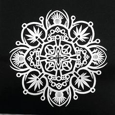 Cynthia Emerlye, Vermont artist and kirigami papercutter: Pot Leaves