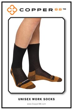 These warm and supportive work socks are Form Fitting and aid in performance and recovery time. Comfortably worn during exercise, daily activities and rest. Super-fast wicking keeps garments dry. Antibacterial and anti-odour properties will keep you feeling and smelling fresh. Copper88™ fabric attributes are inherent in all our garments and will last for as long as you own our products.