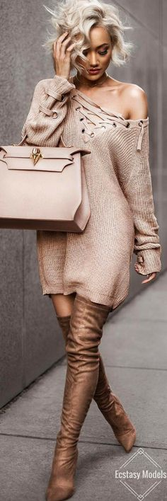 Sweater & boots from @hotmiamistyles // Fashion Look by Micah Gianneli http://bellanblue.com