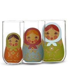 Babushka nesting glass love