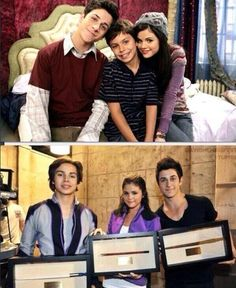 David Henrie, Jake T. Austin and Selena Gomez through the years #WOWP