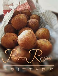 Herbed Parmigiano Reggiano Fritters with Balsamic Reduction Dipping Sauce