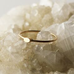 Jane Hollinger Jewelry - RINGS - Bands - Baby Oval G   A tiny, scuptural oval