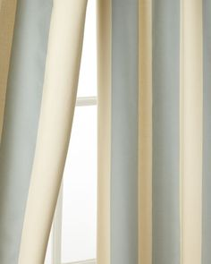 "Each 50""W x 96""L Madeline Striped Curtain by Pine Cone Hill at Horchow, ~ PREFER IN CAFE AU LAIT, $110, FREE SHIPPING"