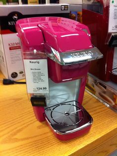 Pink Mini-Keurig! I might get this even though I don't like coffee!!!