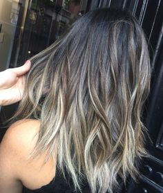 Yes. More dark. Less blonde. Brown Hair Balayage, Ombre Hair, Hair Dye Colors, Brown Hair Colors, Medium Hair Styles, Long Hair Styles, Love Hair, Hair Dos, Pretty Hairstyles