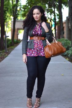 cute shirt and belted cardigan