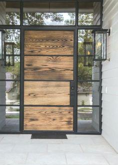 24 Ideas house design exterior modern entrance - Dream Home - French Exterior, Rustic Exterior, Craftsman Exterior, Modern Exterior, Black Outdoor Wall Lights, Outdoor Wall Lighting, Outdoor Walls, Modern Entrance, House Entrance