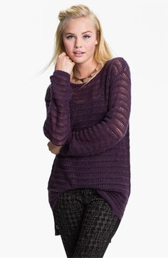 Frenchi® 'Drop Needle' Tunic Sweater (Juniors) | Nordstrom