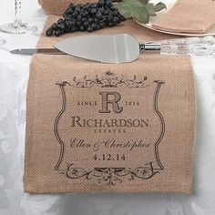 burlap wedding decorations and supplies feature real burlap fabric to accent wedding ceremony accessories including aisle runners, flower girl baskets, ring pillows and guest books.