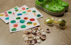 DIY hra pro děti z oblázků mušliček - DIY blog návody