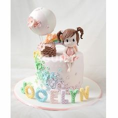 5 of the best homemade birthday cake ideas 00007 Birthday Cakes For Men, Baby Girl Birthday Cake, Homemade Birthday Cakes, Baby Birthday Cakes, Men Birthday, Cake Baby, Cute Cakes, Pretty Cakes, Beautiful Cakes