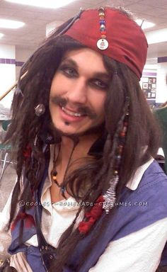 cheap homemade captain jack sparrow costume this website is the pinterest of costumes - Jack Sparrow Halloween Costumes