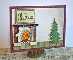 Cristal Hobbs created this warm and cozy scene using the fireplace and builder images. Just gorgeous! Check out her blog for details pics of this amazing project.