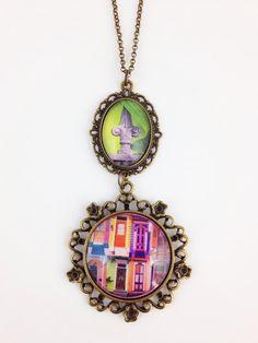 NOLA Colors Double Medallion Necklace