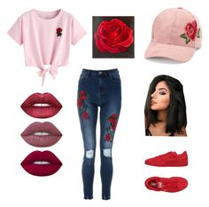 """""""Untitled #89"""" by ardrey on Polyvore featuring WithChic, David & Young, Puma, Lime Crime and NOVICA"""
