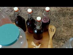 Kefir Water how to carbonate and flavor your water with juice and fruit.