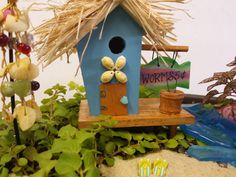 Tiki Hut/ Fairy Garden Kit / Fairy Garden Accessories / Miniatures for Fairy Gardens / Terrarium Kit /Lake House Decor / Fairy Beach