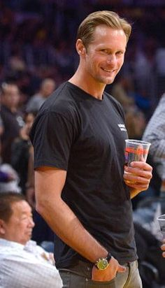 Alex and I have something in common....Basketball and the Lakers....Let me love you Mr. Skarsgard!