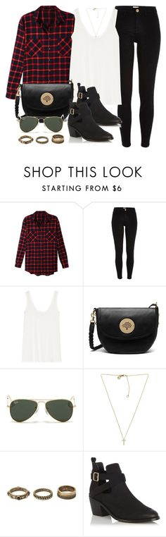 """""""Style #10470"""" by vany-alvarado ❤ liked on Polyvore featuring LE3NO, River Island, The Row, Mulberry, Ray-Ban, Michael Kors, Forever 21 and Oasis"""